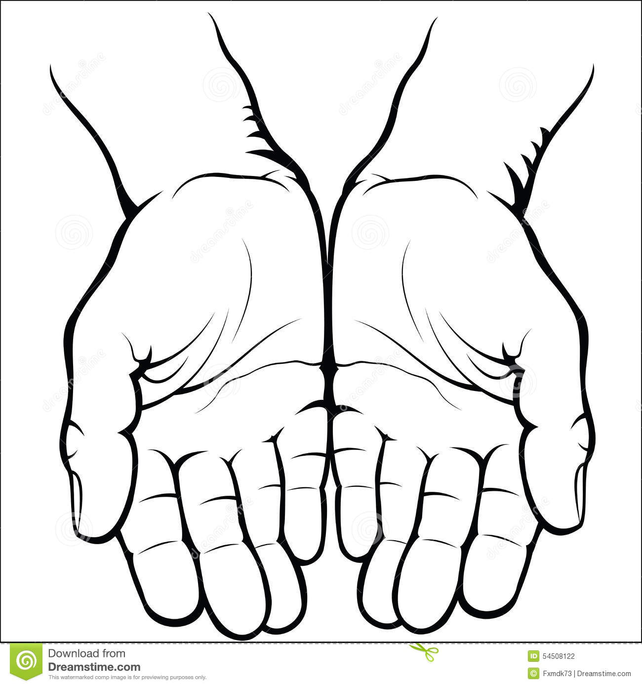 1300x1390 Huge Collection Of 'open Palm Hand Drawing' Download More Than