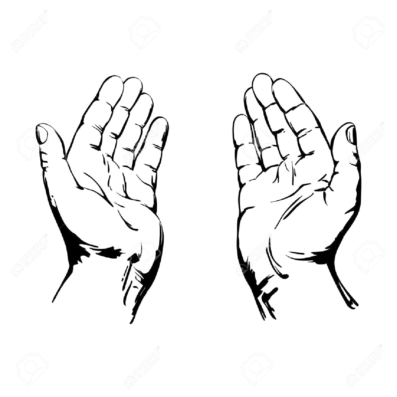 1300x1300 Praying Hands Tattoo Drawing