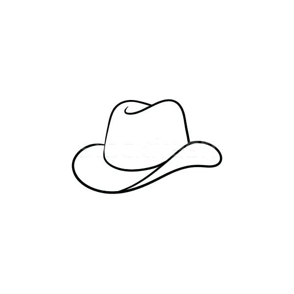 600x600 cowboy hat drawing cowboy hat drawing cowboy hat drawing reference