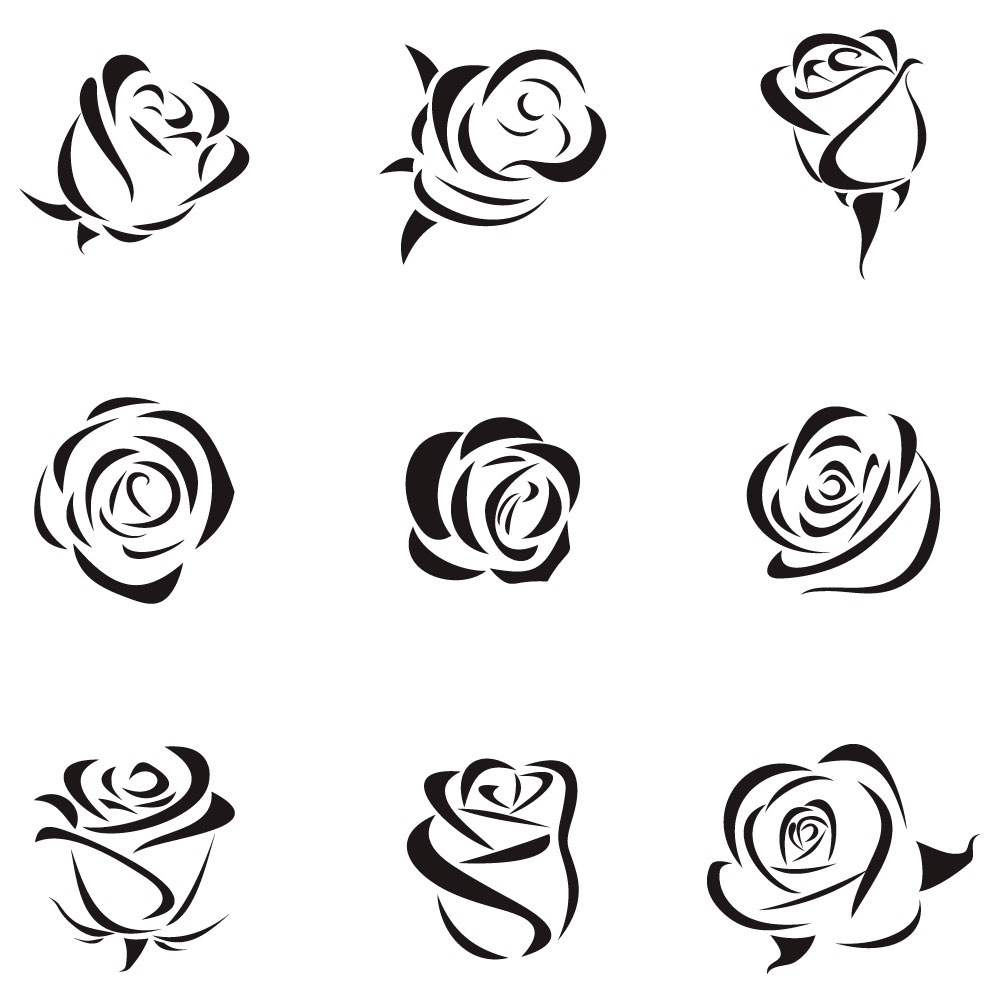 1000x1000 Hand Drawing Rose Vector