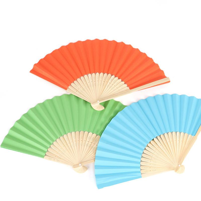 800x800 Mix Shipping Chinese Hand Paper Fans Pocket Folding Bamboo