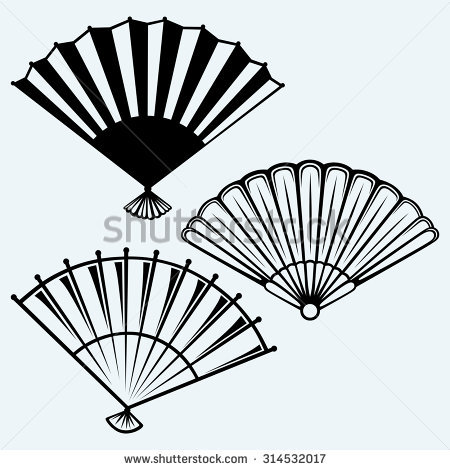 450x470 Hand Fan Clipart Black And White Clipart Station