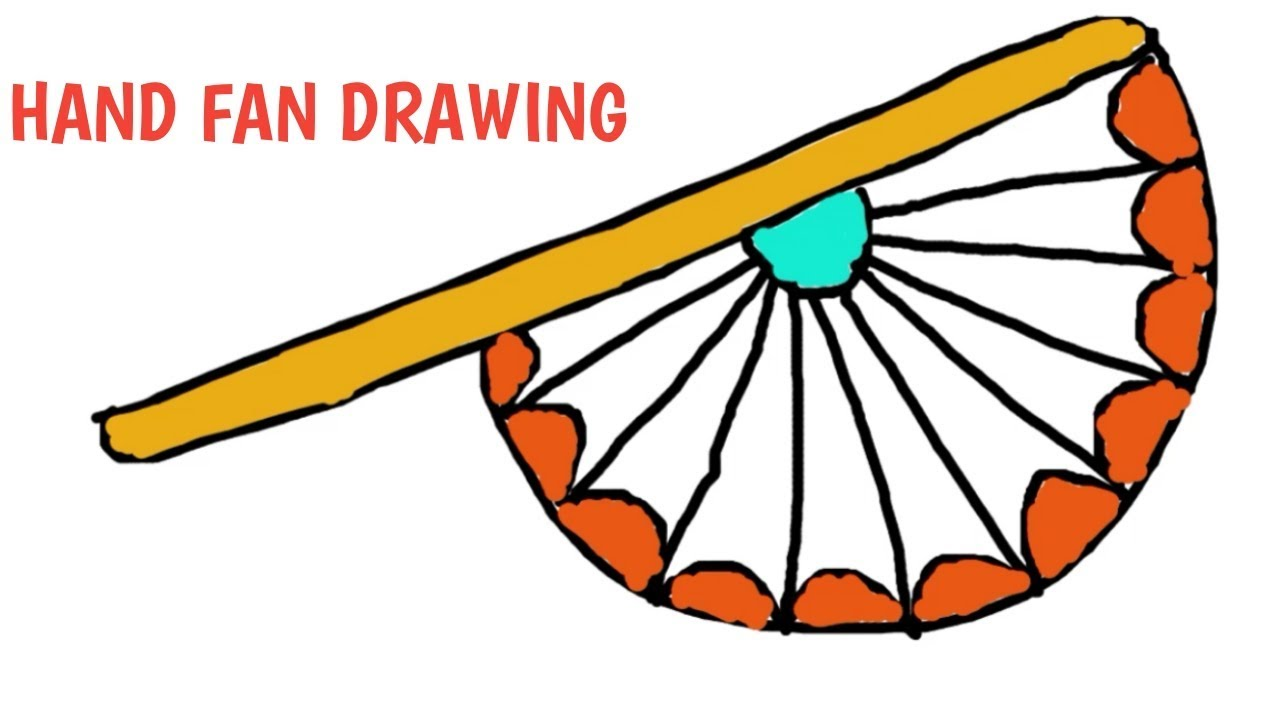 1280x720 How To Draw A Hand Fan, Hand Fan Drawing For Kids, Hand Fan