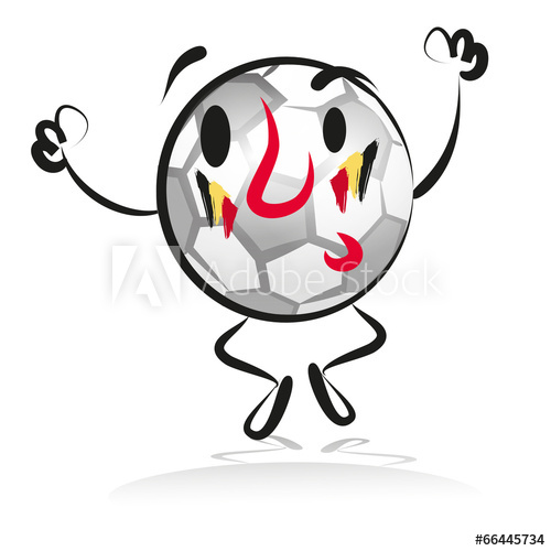 500x500 Soccer, Character, Fan, Hand Drawing, Belgium, Football, Jumping
