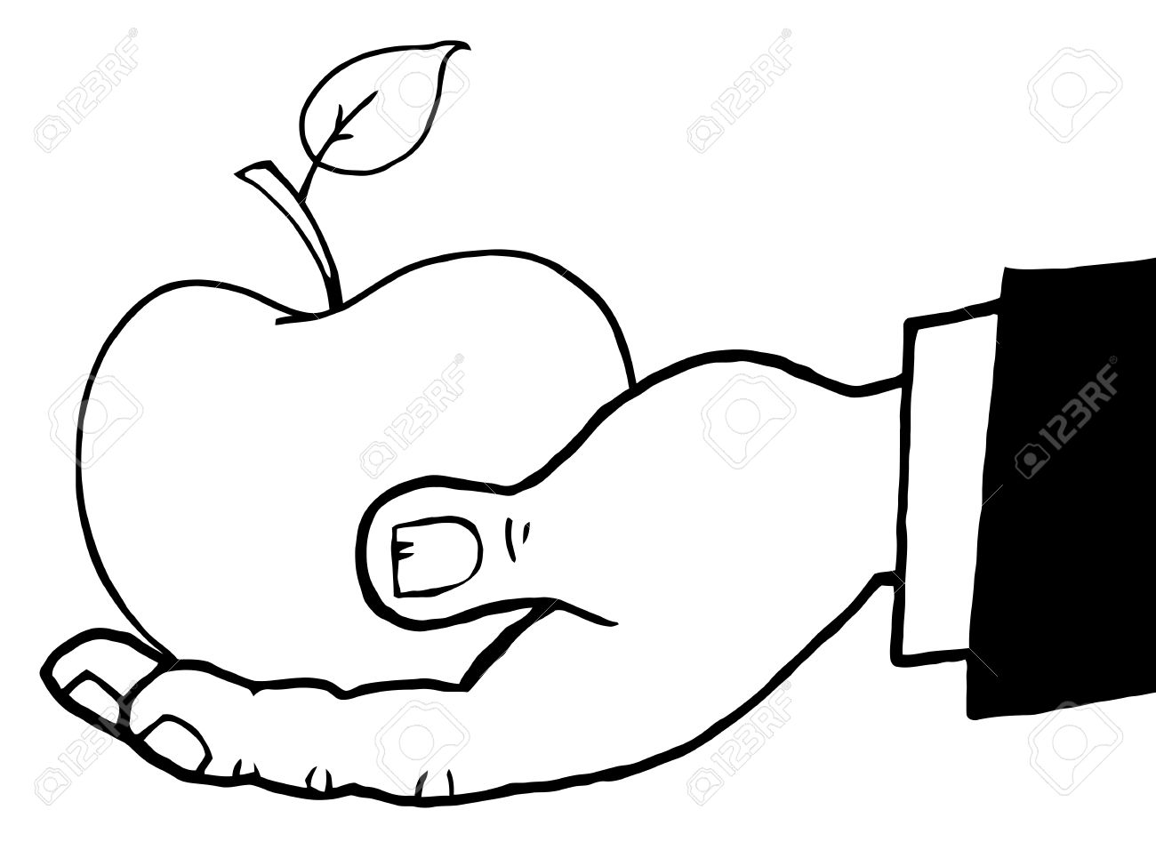 1300x956 Hand Holding Apple Clipart