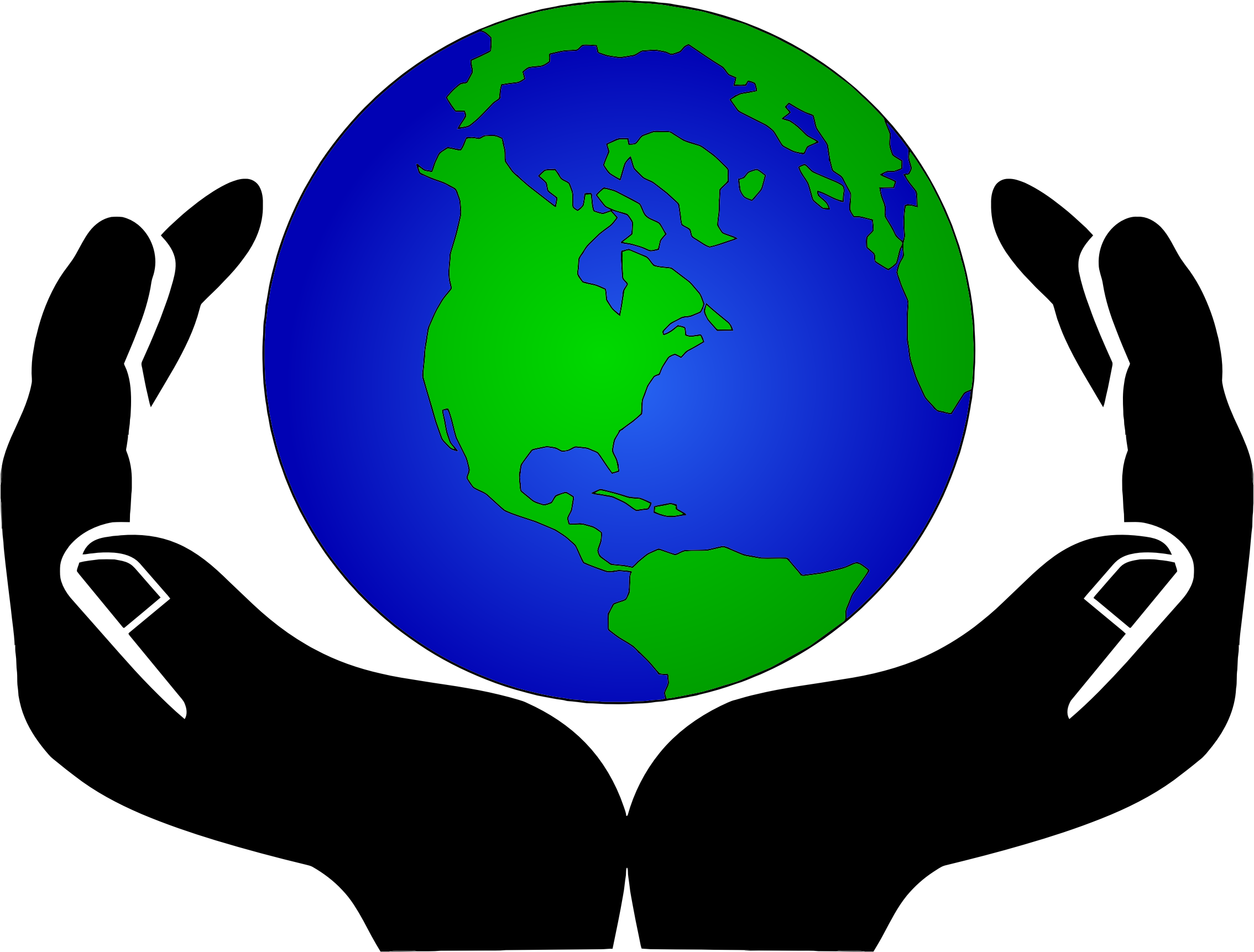 2268x1722 Hands And Globe Clipart