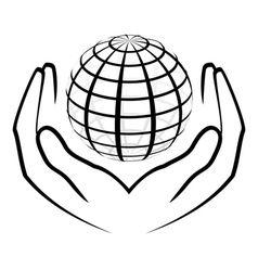 238x237 Hands Holding A Globe Vector Artworks Hand Logo, Globe Vector