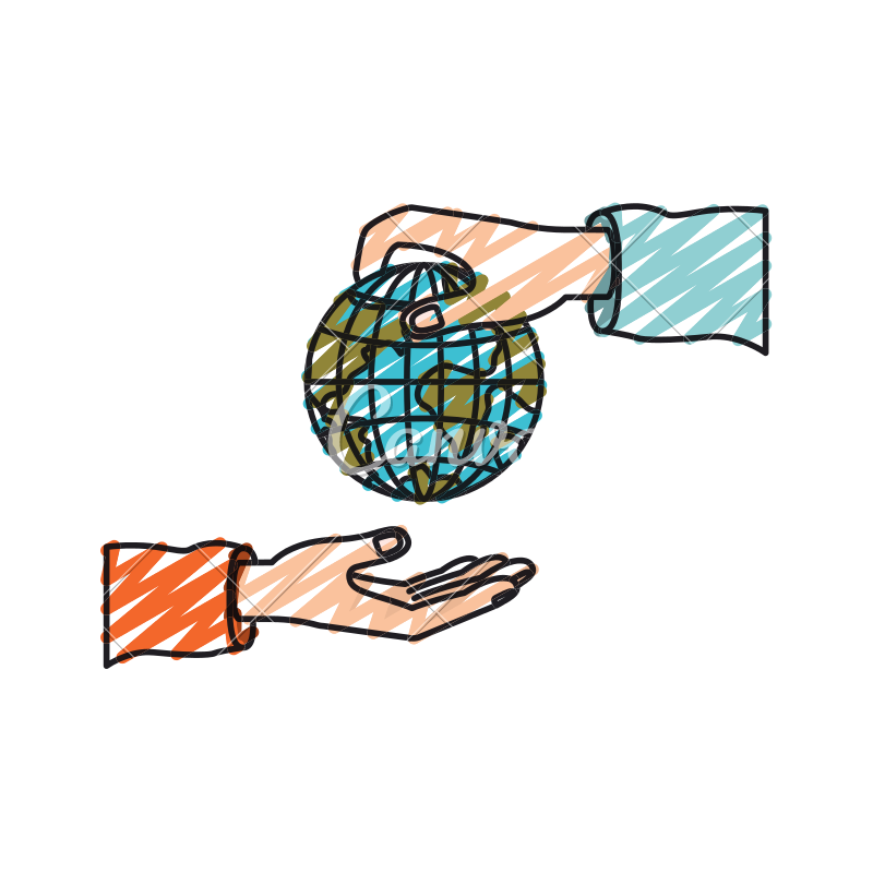 800x800 Palm Human Holding A Earth Globe World Charity Symbol To Deposit