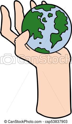 275x470 Cartoon Hand Holding Whole Earth