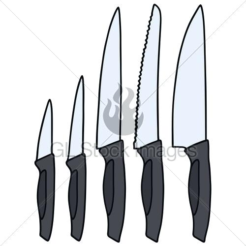 500x500 kitchen knife drawing types of kitchen knives kitchen knife line