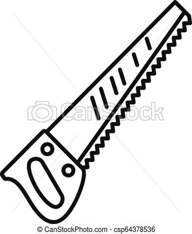 386x470 hand saw icon, outline style hand saw icon outline hand saw