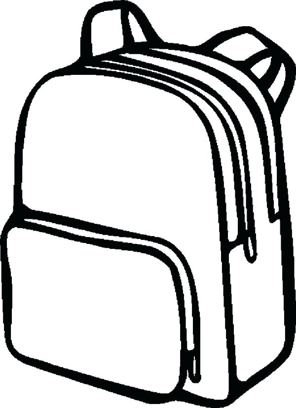 600x828 drawing of backpack spacious storage capacity backpack drawing