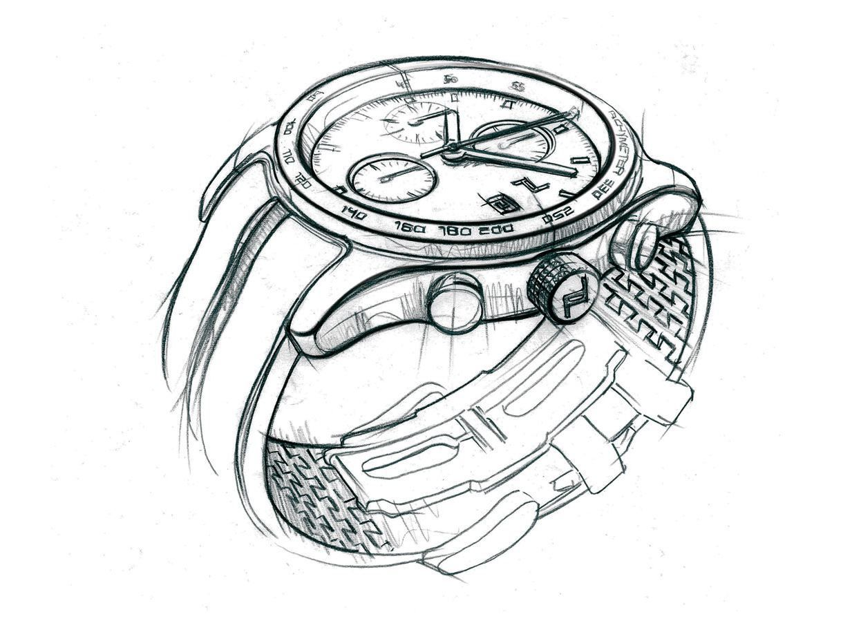 Hand Watch Drawing