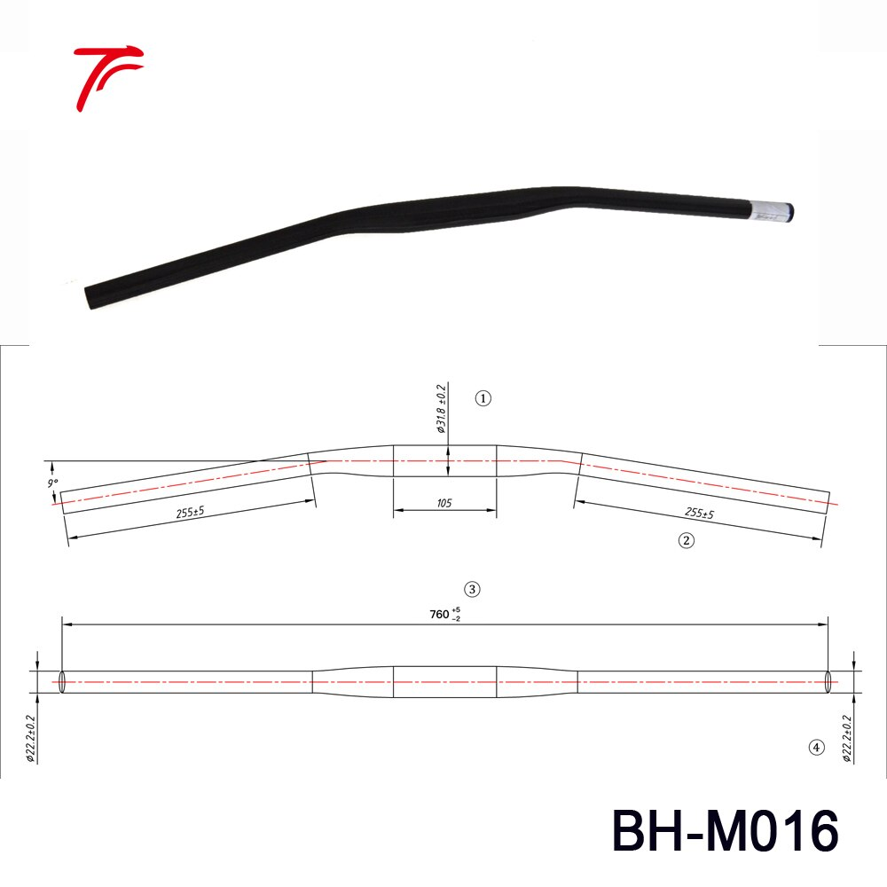 1000x1000 piece light weight carbon handlebar mtb bike parts mountain