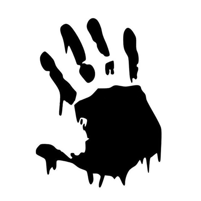 640x640 Handprint Drawing Awesome Zombies Bloody Hand Car