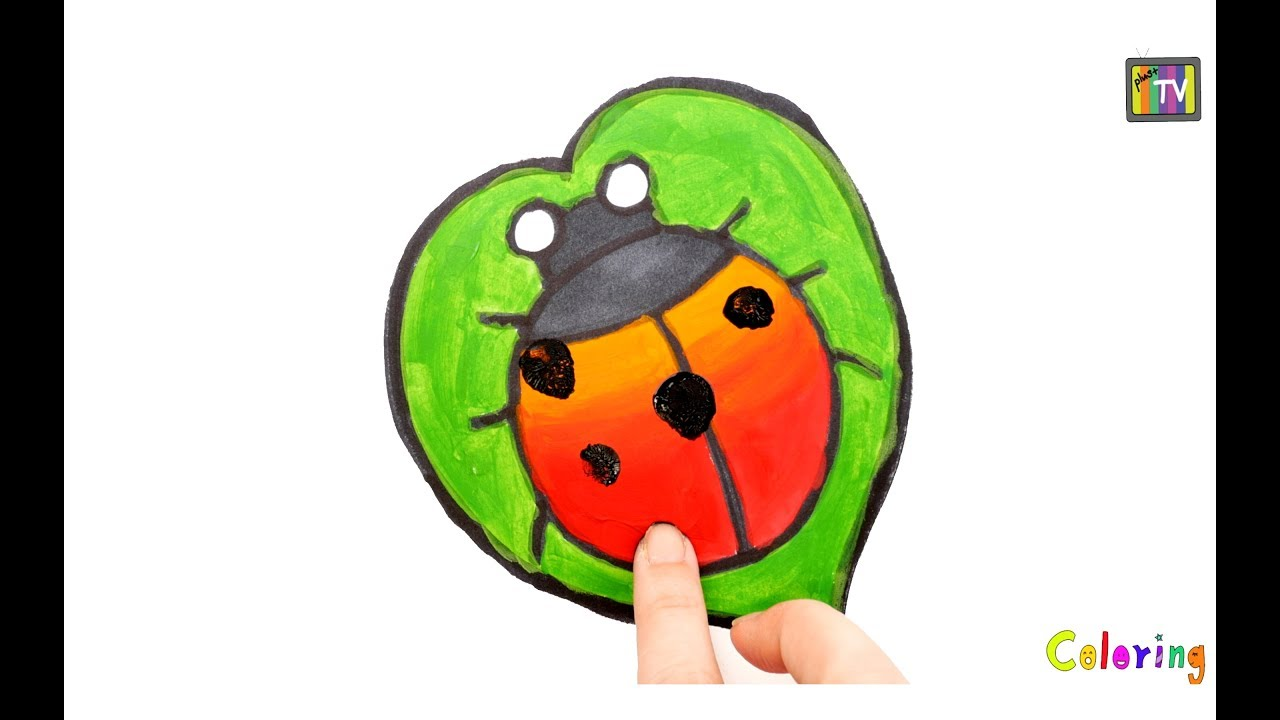 1280x720 Ladybug Drawing Coloring Handprint Watercolor Learn Draw Colors
