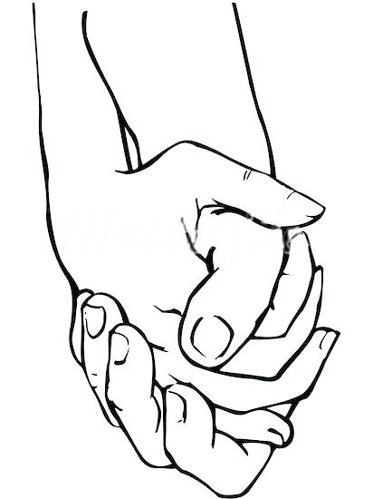 412x550 Drawing Of Hands Holding Hands Praying With Rosary Tattoo Drawing