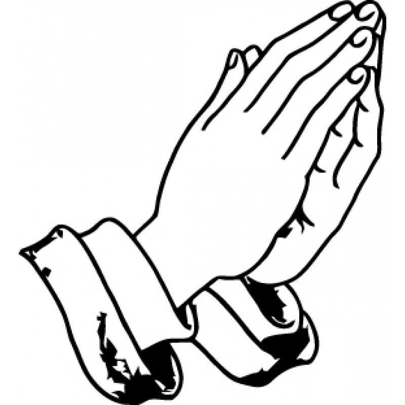 800x800 New Praying Hands Outline
