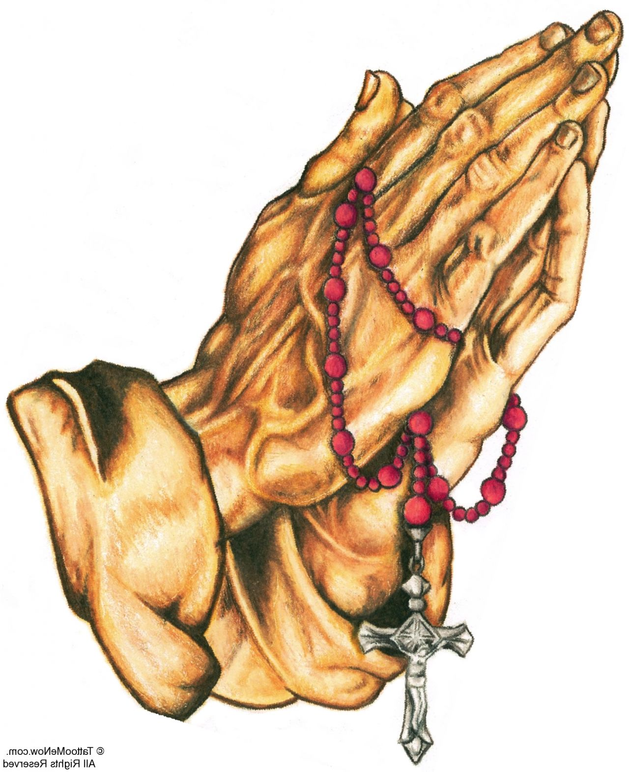 1280x1572 Praying Hands With Rosary