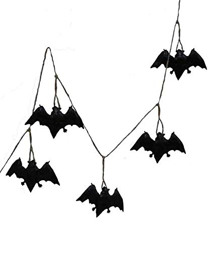 413x550 Halloween Black Bat Garland Decorations