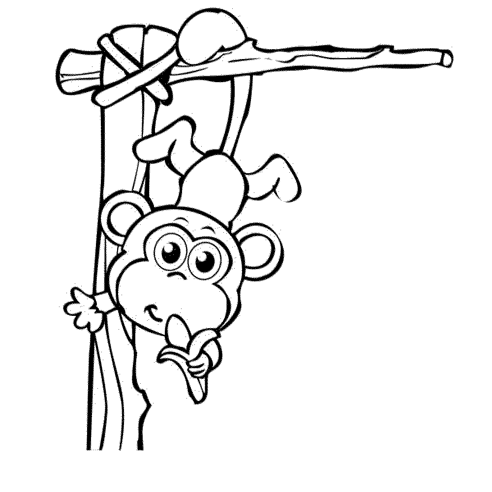 1000x1000 alert famouseys coloring pages cuteey hanging with banana