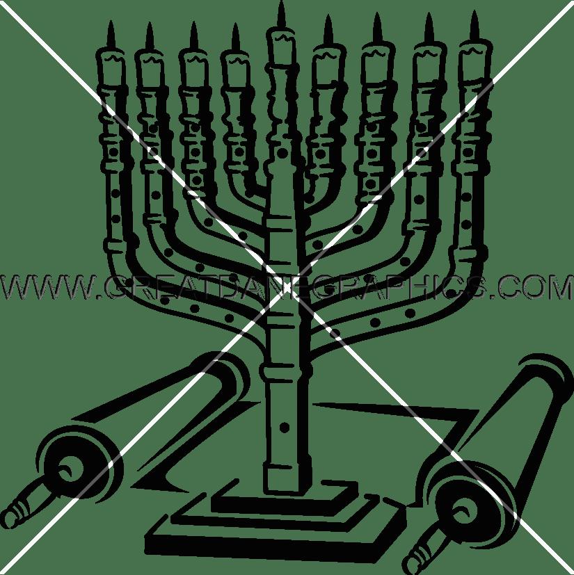 Hanukkah Menorah Drawing