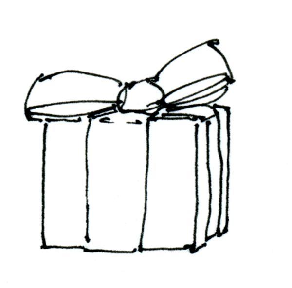 600x592 birthday gift drawing ideas gift box drawing web
