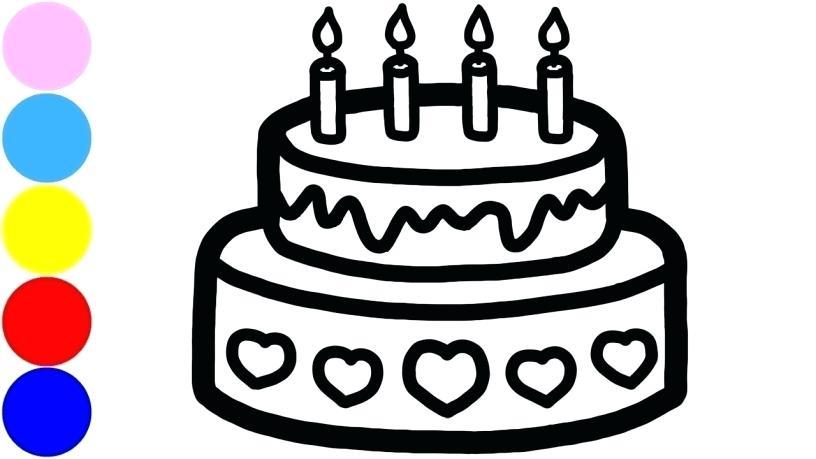 816x459 drawing of birthday cake birthday cake clip art happy birthday
