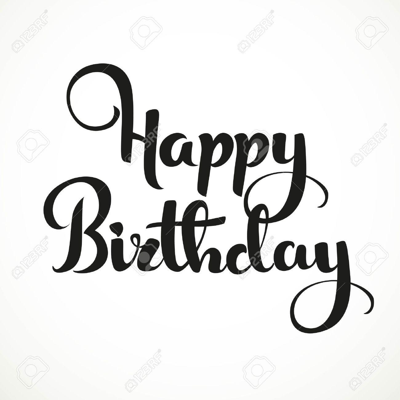 Happy Birthday Drawing Text