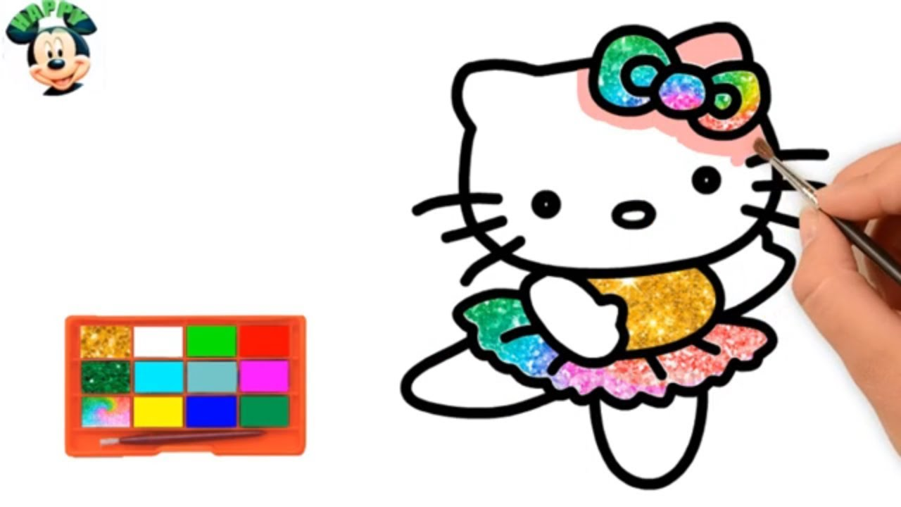 1280x720 Cute Kitty Cat Drawing For Children Happy