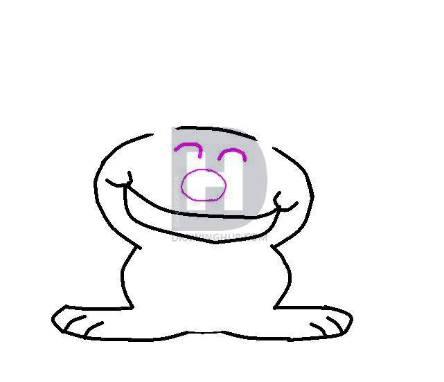 641x552 How To Draw Happy Bunny, Step