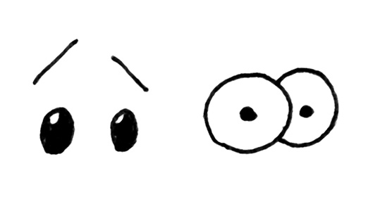 546x300 How To Easily Draw Cartoon Eyes To Show Different Emotions