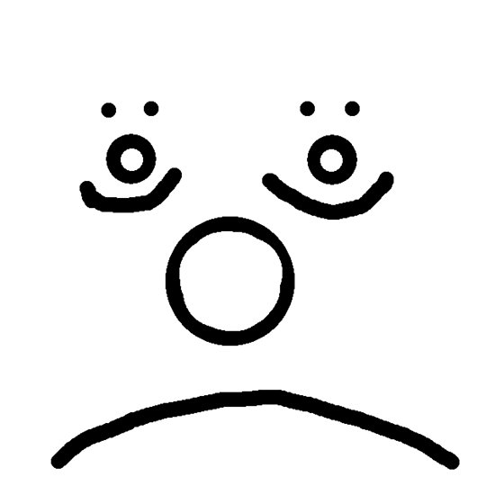 550x550 Sad Face With Happy Eyes Posters