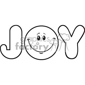 300x300 Royalty Free Rf Clipart Black And White Joy Logo