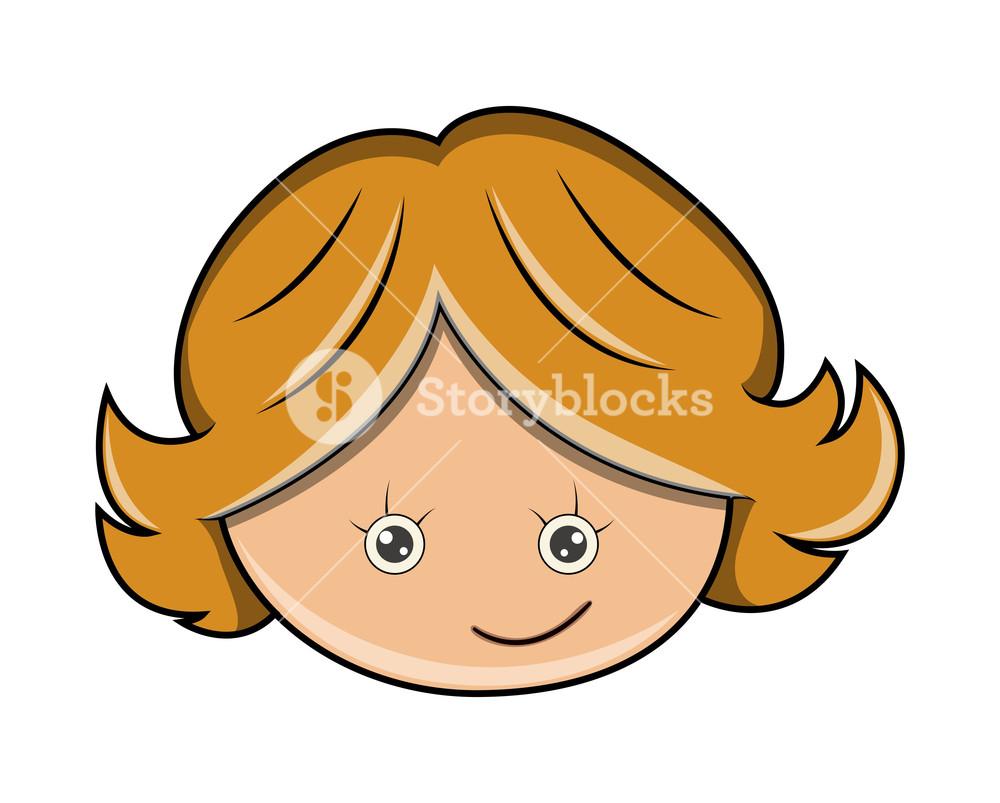 1000x803 Happy Funny Cartoon Girl Face Royalty Free Stock Image