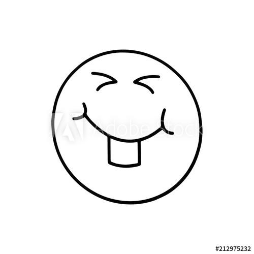 500x500 Happy Face Cartoon Illustration Isolated On White Background