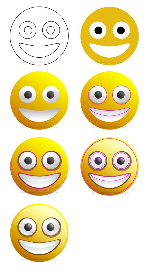 500x908 How To Draw A Smiley Face Clip Art Cg