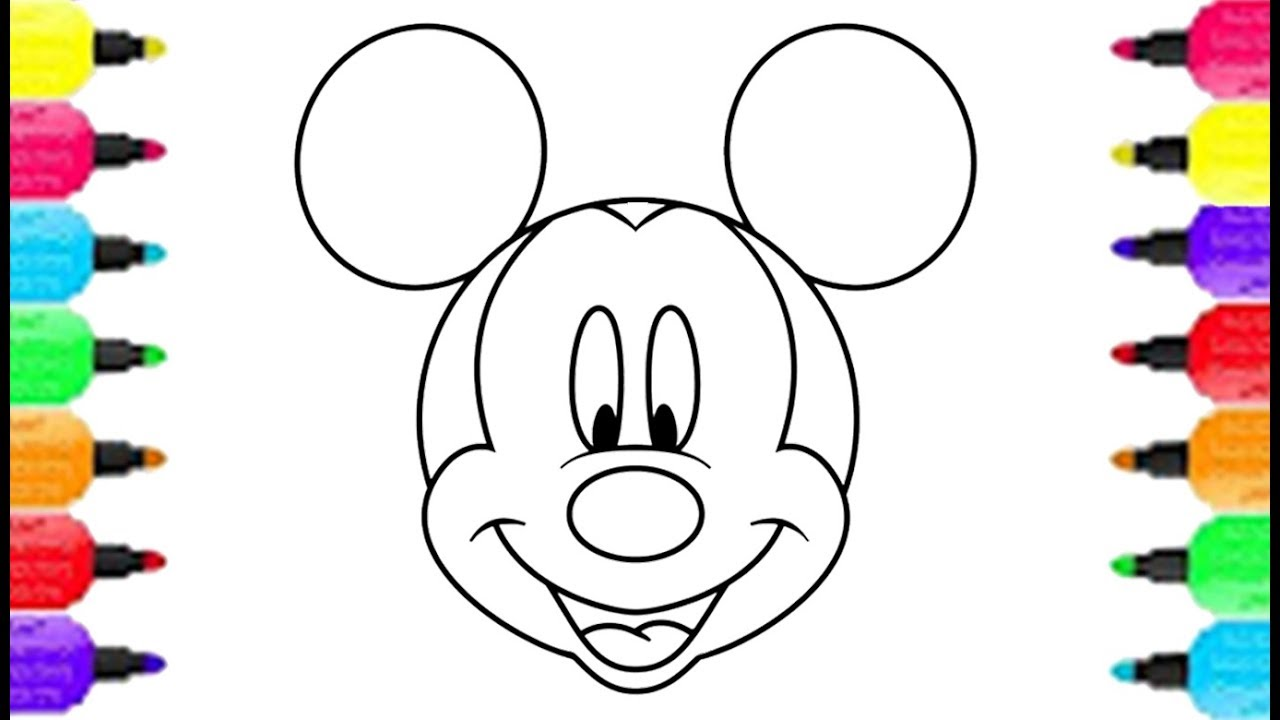 1280x720 Mickey Mouse Smiley Face Coloring Pages How To Draw Mickey Mouse