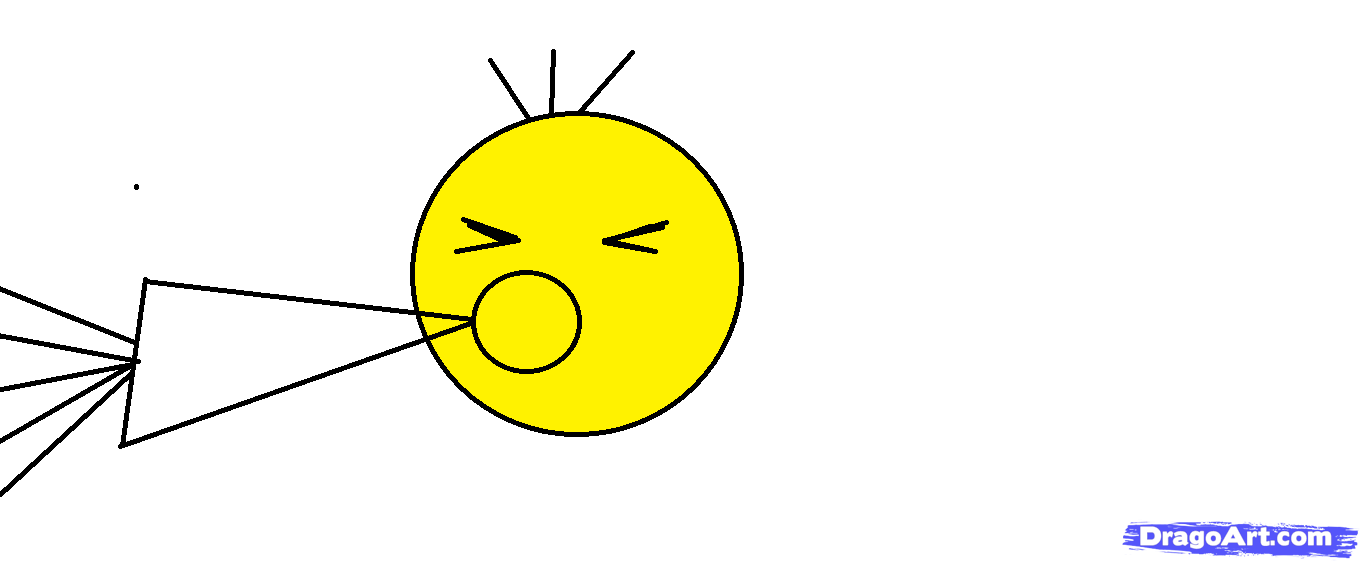 1360x561 How To Draw A Yelling Smiley Face, Step
