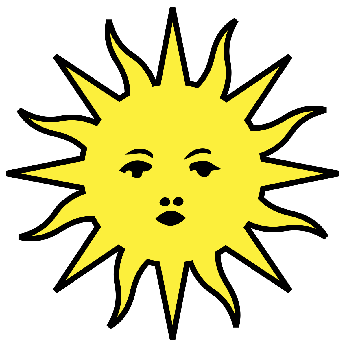 Happy Sun Drawing | Free download best Happy Sun Drawing on