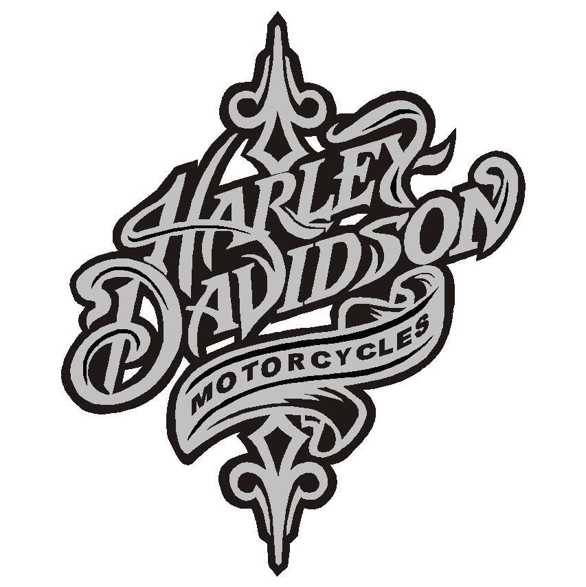 853x854 harley davidson logo black and white harley davidson logo black