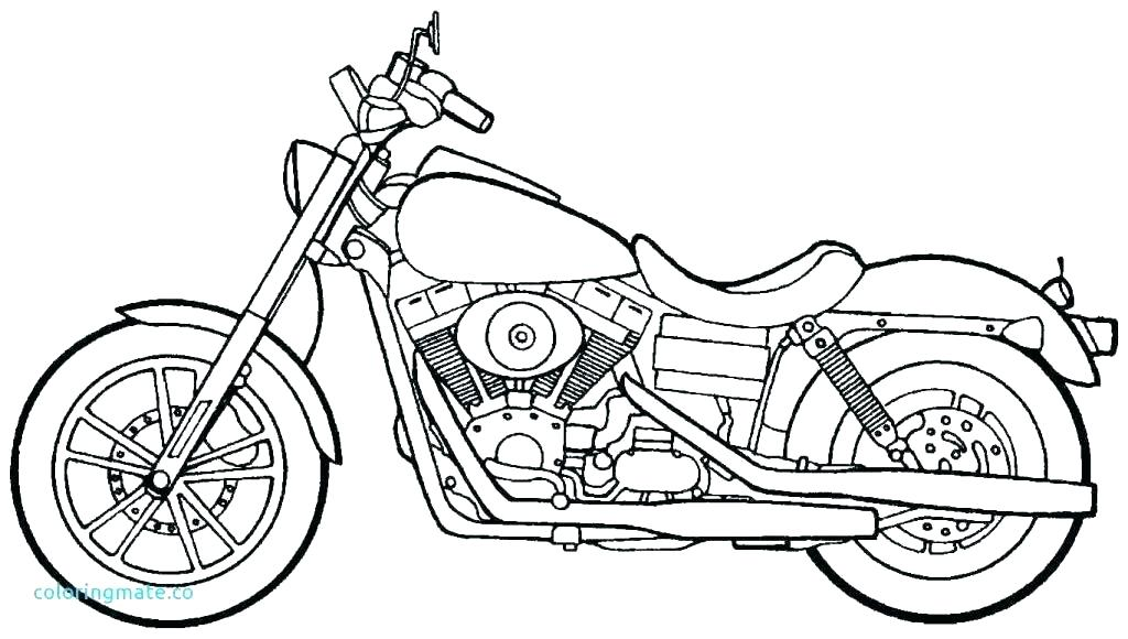 Harley Davidson Motorcycle Drawing Free Download Best