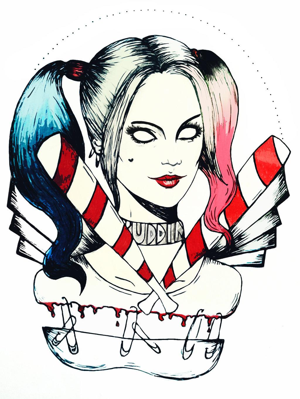 Harley Quinn Easy Drawing
