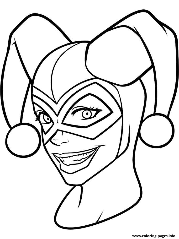 Harley Quinn Face Drawing Free Download On Clipartmag