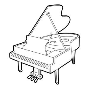 300x300 grand piano icon outline isometric illustration of grand piano