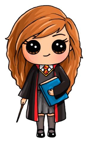 296x477 Hermione Painting Dibujos Kawaii, Dibujos, Dibujos De Harry Potter