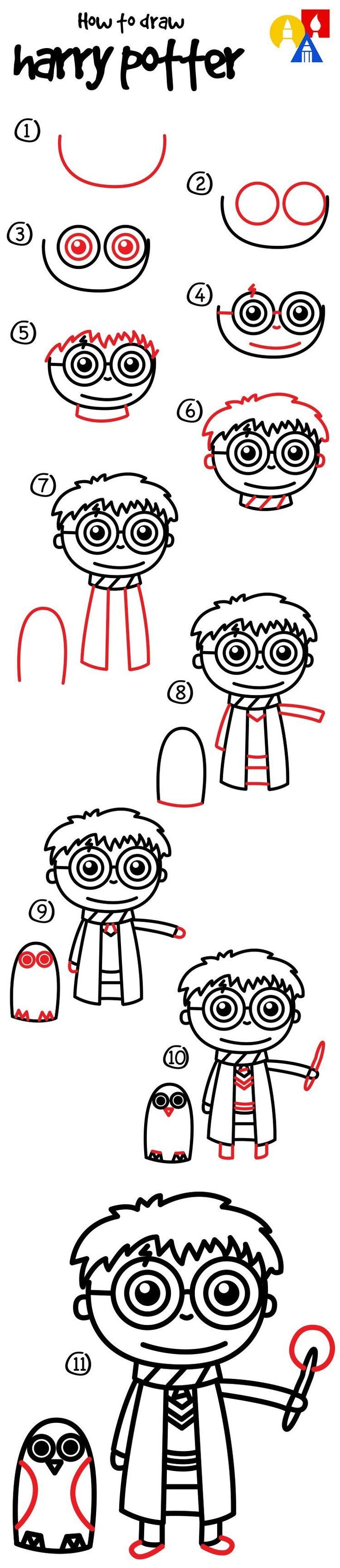 736x3393 How To Draw Harry Potter Stuff
