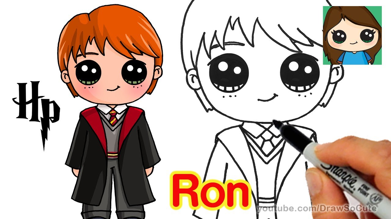 1280x720 How To Draw Ron Weasley Easy Harry Potter