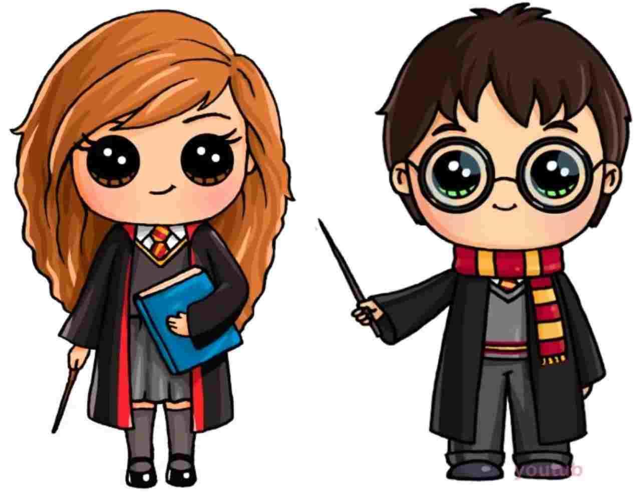 1278x988 Cartoon Character Cute Harry Potter Easy Drawings