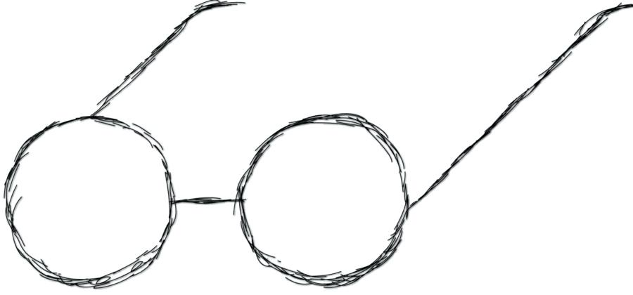 900x420 Glasses Drawing Art Artist Drawing Sunglasses And Earbuds Art